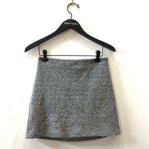 Kendall + Kylie Grey Tweed Miniskirt